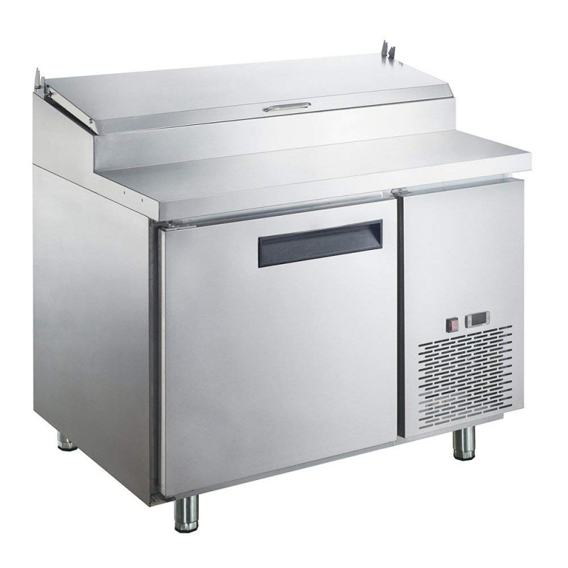 4bf9f8e465c Dukers DPP44-6-S1 9.8 cu. ft. Commercial Single Door Pizza Prep Table  Refrigerator
