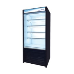 "Blue Air BOD-36S 36"" Solid Side Panel Vertical Open Display Case"