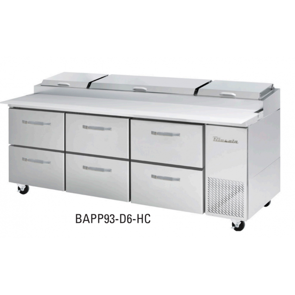 """Blue Air 6 Drawers 93"""" Model for BAPP Ending with 93-D6-HC"""