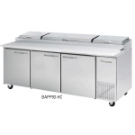 Blue Air BAPP93-HC 3 Doors All Stainless Pizza Prep. Table