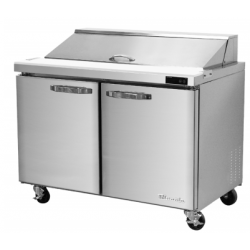 """Blue Air BLPT36-HC 2 Door All Stainless Prep. Table with 10 Pans /36"""""""