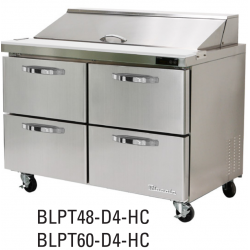 "Blue Air BDR-48R72R 48"" Model Refrigeration Drawern for BLUR/BLPT/BLMT, Drawer 2ea-1set, Right Section"