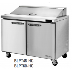 """Blue Air BLPT48-HC 2 Door All Stainless Prep. Table with 12 Pans /48"""""""