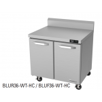 "Blue Air BLUF36-WT-HC 36"" 2 Doors All Stainless Steel Work Top Freezer"