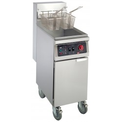 Grindmaster Cecilware EFS40 4 lbs. Stainless Steel Floor Model Electric Fryers