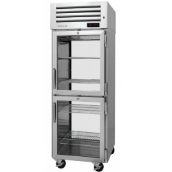 Turbo Air PRO-26-2H-G-PT PRO Series Pass-thru Half Glass Heated Cabinet, One-section