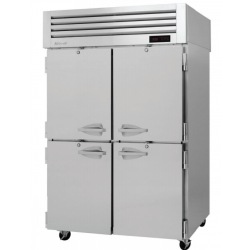 Turbo Air PRO-50-4H PRO Series Half Solid Door Reach-in Heated Cabinet, Two-section