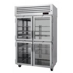 Turbo Air PRO-50-4H-G PRO Series Glass Half Door Reach-in Heated Cabinet, Two-section