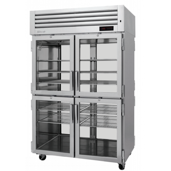 Turbo Air PRO-50-4H-G-PT PRO Series Pass-thru Half Glass Heated Cabinet, Two-section