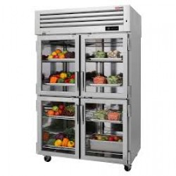 Turbo Air PRO-50-4R-G-N PRO Series 4 Glass Half Door Refrigerator, Reach-in, One-section