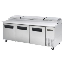 Blue Air BAPP93 Pizza Prep Table 3 doors  Refrigerator