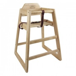 Thunder Group WDTHHC018 Natural Wood Finish High Chair For Children